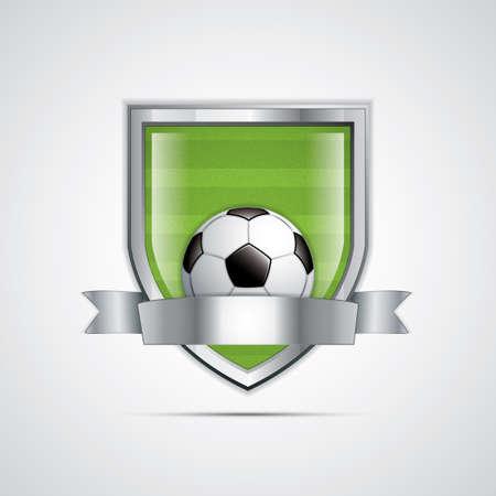 soccer field: Soccer field emblem.Vector Illustration