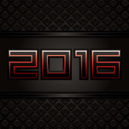 yearn: Happy new year.Vector illustration