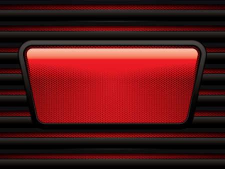 metallic: Abstract background, metallic red brochure, vector Stock Illustratie