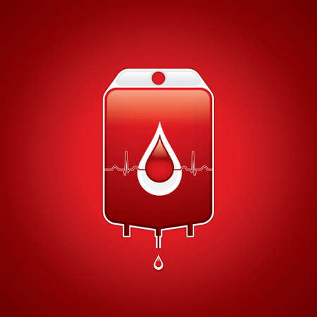 blood transfusion: Blood donation Medical background Illustration