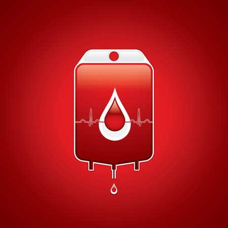 set the intention: Blood donation Medical background Illustration