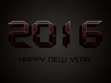 2016 New Year digital counter