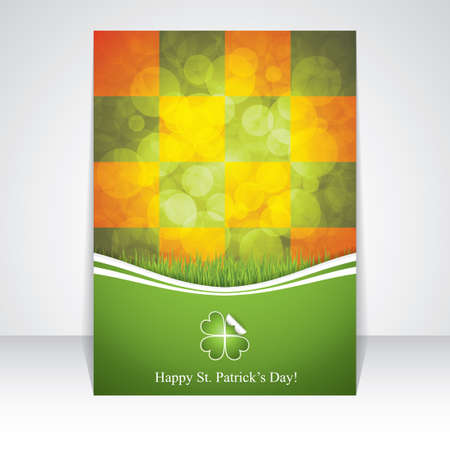 st  patrick's day: St. Patricks Day brochure.Vector illustration