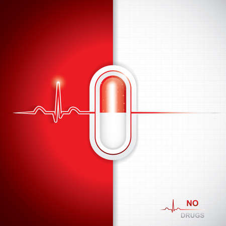 a drug: Anti drug medical background.Vector Illustration