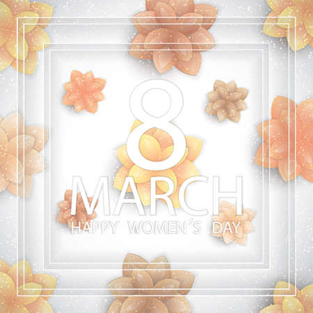holiday greeting: Floral Greeting card. International Happy Womens Day.8 March holiday background
