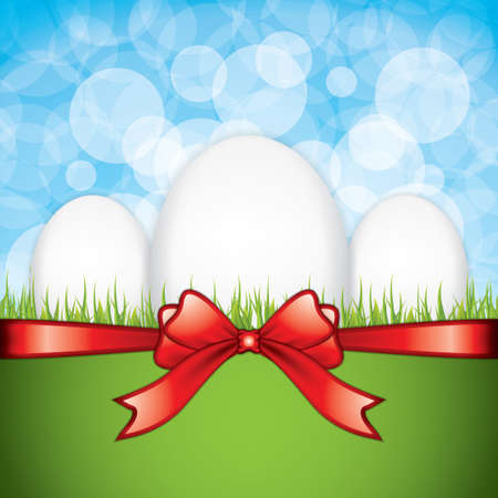 sweet grass: Easter greeting card. Vector illustration