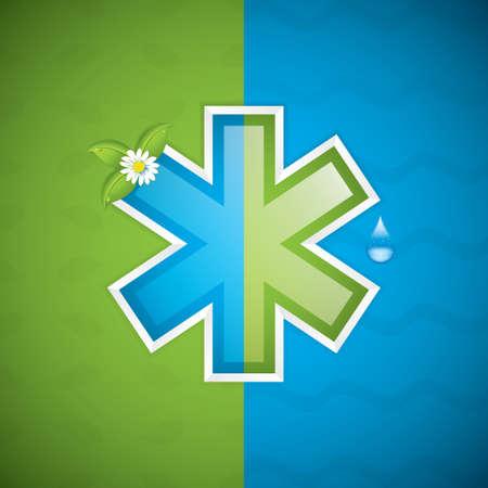 cross vector: Alternative medication concept - medical cross vector