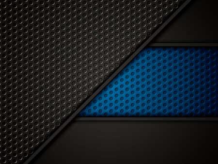metallic background: Abstract background, blue brochure, vector