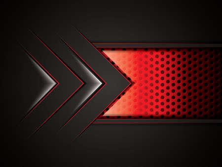 Sfondo astratto, rosso metallizzato brochure, vettore Vettoriali