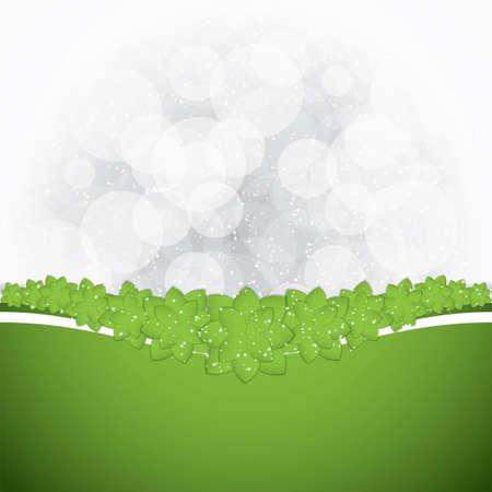 green paper: Green paper flowers.Spring background Illustration