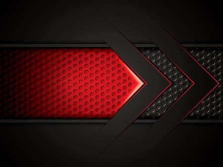 Abstrakter Hintergrund, rot metallic Brosch?re, Vektor-