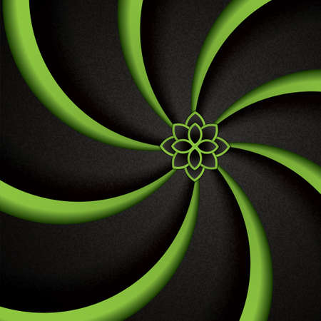 green swirl: Abstract green background with swirl waves.Flower design