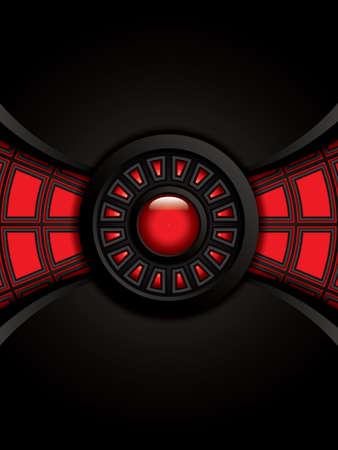 aerodynamic: Abstract background, metallic red brochure Illustration