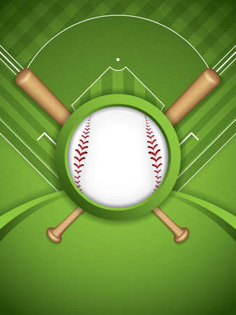 baseball diamond: Baseball brochure illustration