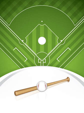 Baseball brochure illustration