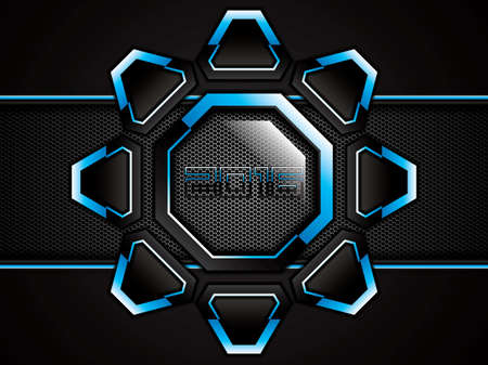 metallic: Abstract background, metallic blue brochure