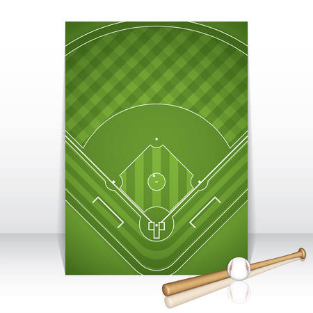baseball diamond: Baseball brochure.