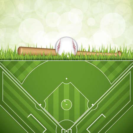 infield: Baseball brochure.