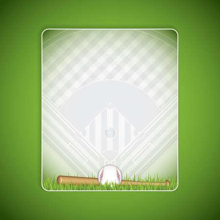 folleto de béisbol.