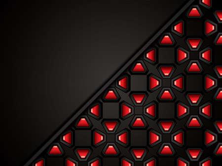 metallic background: Abstract background, metallic red brochure Illustration