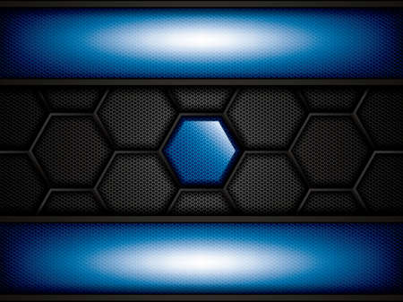 metallic background: Abstract background, metallic blue brochure