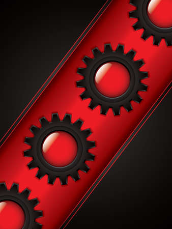 aerodynamic: Abstract background, black and red brochure, vector