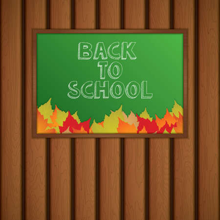 primary education: Back to school, written on blackboard with chalk