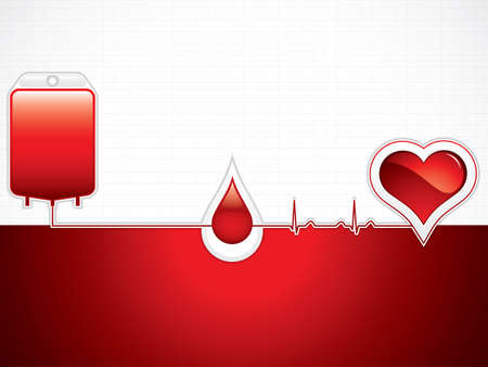Donate blood design on red background.Medical vector