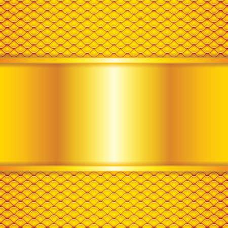 squama: Golden squama texture.Abstract background Illustration