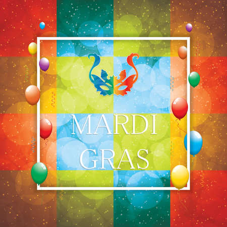 mascaras teatro: Mardi Gras background.Carnival mask.Vector illustration. Vectores