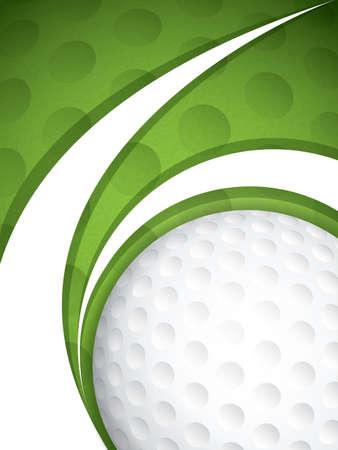 Vector illustration of a golf brochure