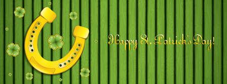Golden horseshoe design for St. Patricks Day.