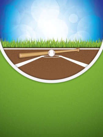 outfield: Baseball brochure.Vector illustration