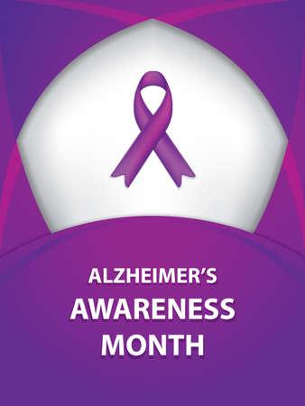Alzheimer bewustmaking maand background.Vector illustratie