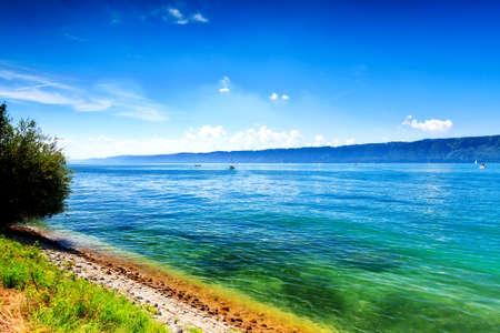 Beautiful panorama at Lake Constance (Bodensee), Europe, Germany 版權商用圖片