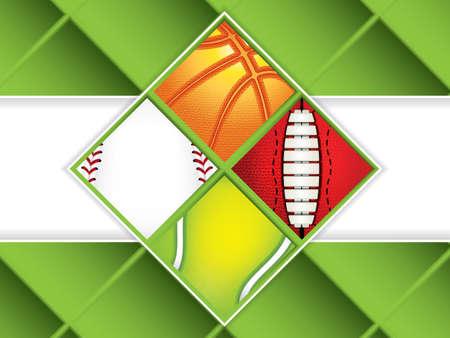 Sport concept background.Set of sport balls.Vector illustration.