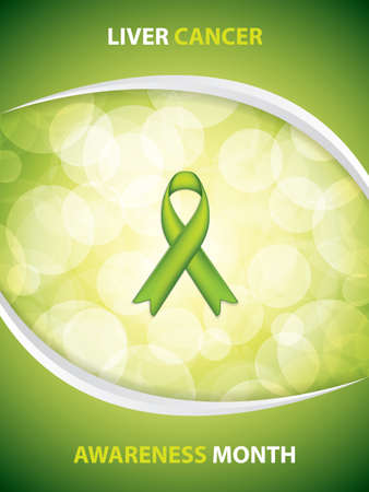 Liver Cancer Awareness Month Background. Vector illustration. Illustration