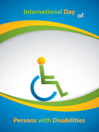 International Day of Persons with Disabilities brochure Illustration