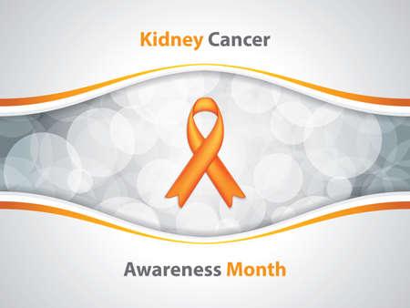 Kidney Cancer Awareness Month.Cancer Ribbon Background.Vector illustration. Ilustração
