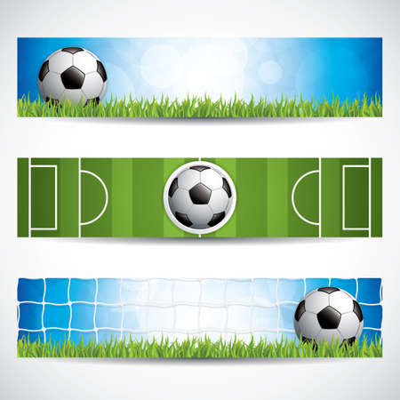 Set of soccer (football) banners.Vector illustration. Illustration