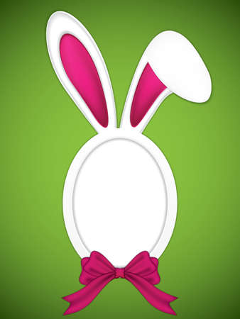 Easter frame with rabbit ears.