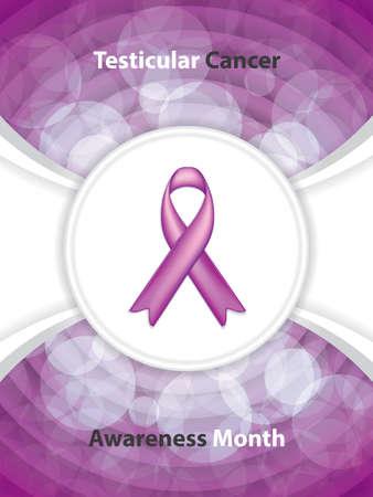 Testicular Cancer Awareness Month.Cancer Ribbon Background.Vector illustration. Illustration