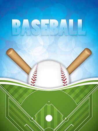 Baseball brochure template design. Vector illustration.