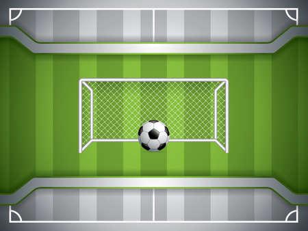 Soccer goal and ball template design. Vector illustration.