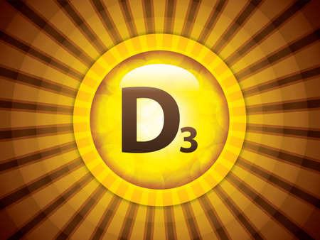 Vitamin D glossy brochure image illustration