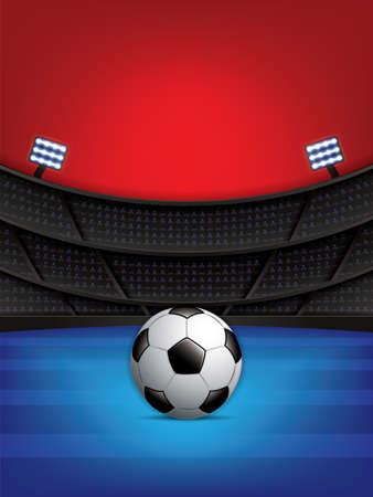 Soccer, football stadium, vector illustration