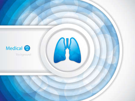 Human lungs vector background vector illustration. Stock Illustratie