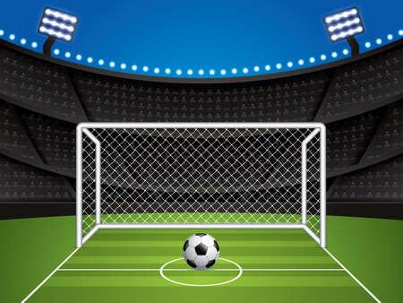 Soccer, football stadium vector illustration.