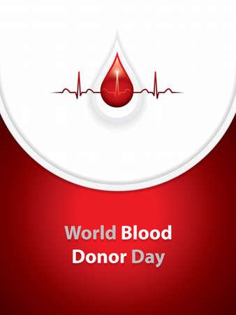 World blood donor day.Blood donation vector brochure