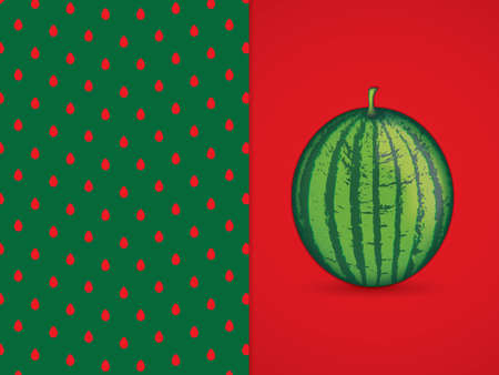 Vector illustration of watermelon background Illusztráció